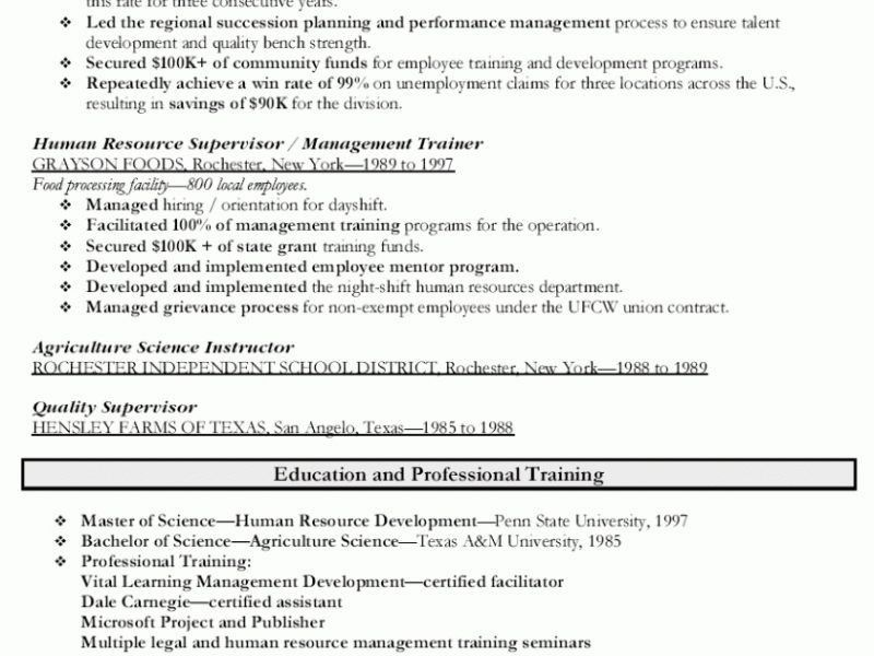 Stylish Inspiration Human Resources Manager Resume 14 Sample ...