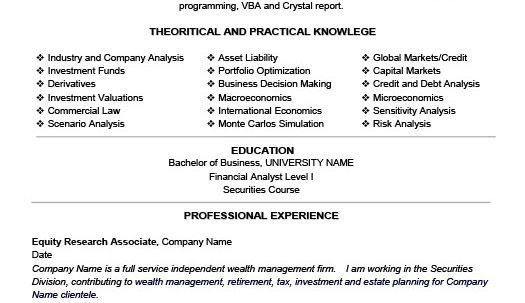 Michael Yao Fu Equity Research Resume Objective Resume Objective ...