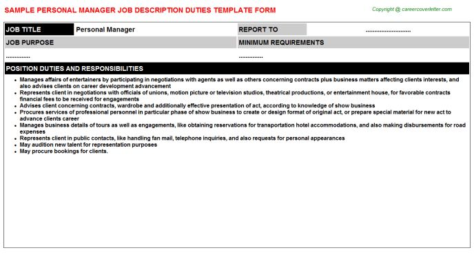 banking manager sample job descriptions sample job ...