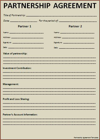 7+ free partnership agreement templateReport Template Document ...