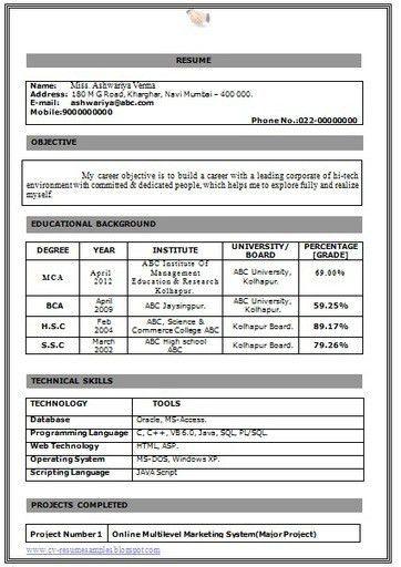 cover letter fresher resume format fresher resume format free ...