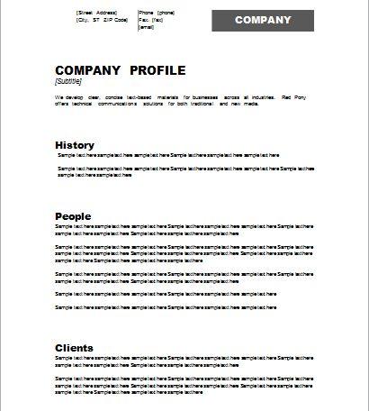 company profile template | Document Hub