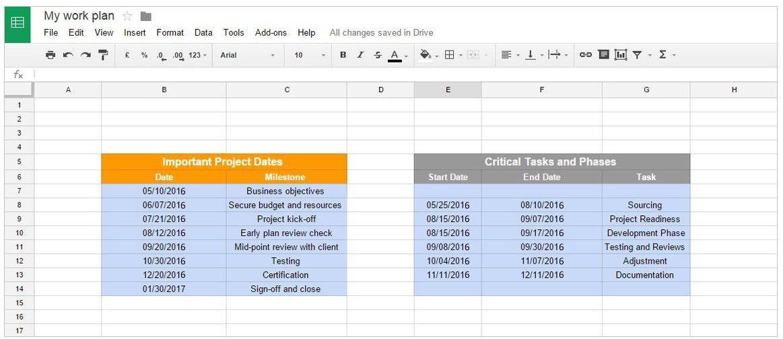 Office Timeline: Gantt Charts in Google Docs