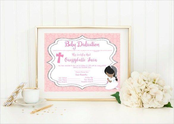 Baby Dedication Certificate Template U2013 19+ Free Word, PDF .