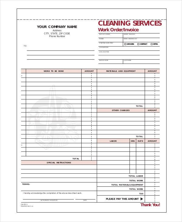 Cleaning Invoice Template- 6+ Free Word, PDF Documents Download ...