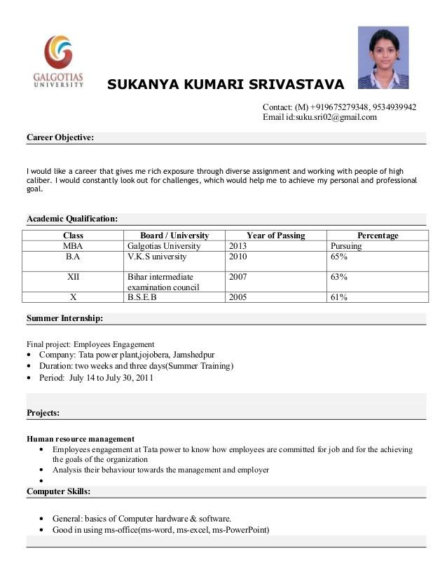 Download Format Of Resume | haadyaooverbayresort.com