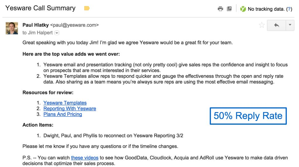 4 Sales Follow Up Email Templates That Get Replies - Yesware Blog
