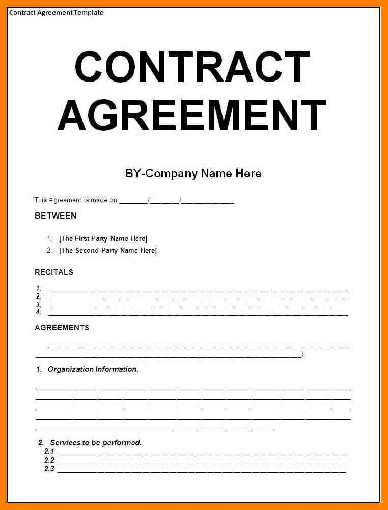 Coaching Contract Templates. Sample Contract Form Agreement ...