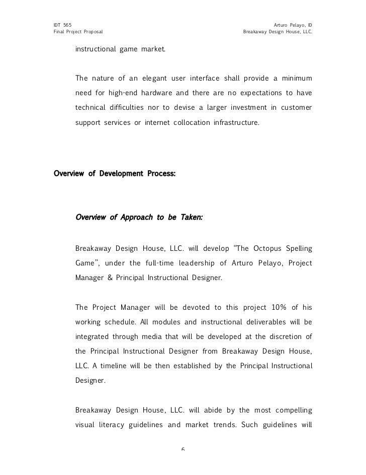 Sample Project Proposal Design Document