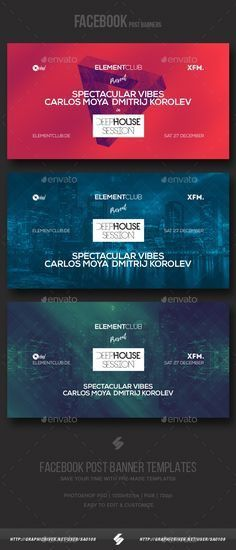 Electronic Music Party vol.6 - Facebook Post Banner Templates ...