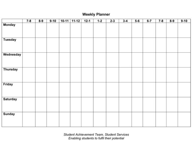 Free weekly schedule template free weekly schedule templates for weekly planner template 7 free schedule planners pronofoot35fo Image collections