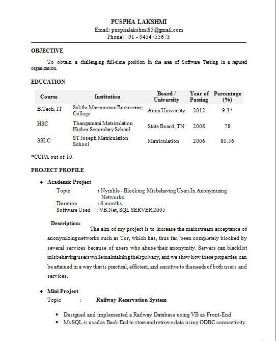simple graduate fresher resume template ...
