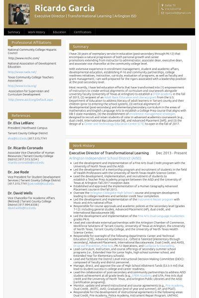 Executive Director Resume samples - VisualCV resume samples database