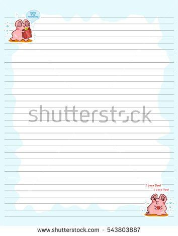 Vector Printing Paper Note Cute Paper Stock Vector 615713900 ...