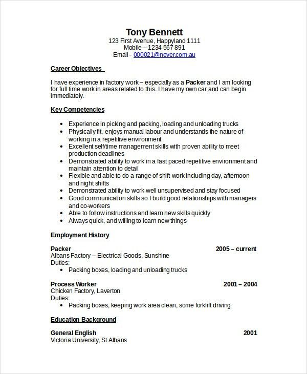 Forklift Driver Resume 20 Job Description - uxhandy.com