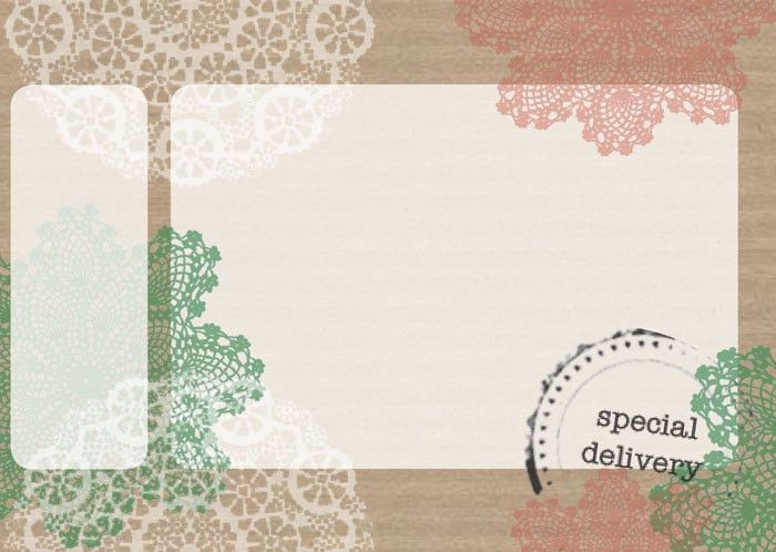 Free printable mailing label with doilies | Free Printables ...