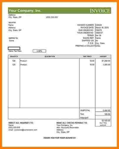 3+ sample commercial invoice | sample of invoice