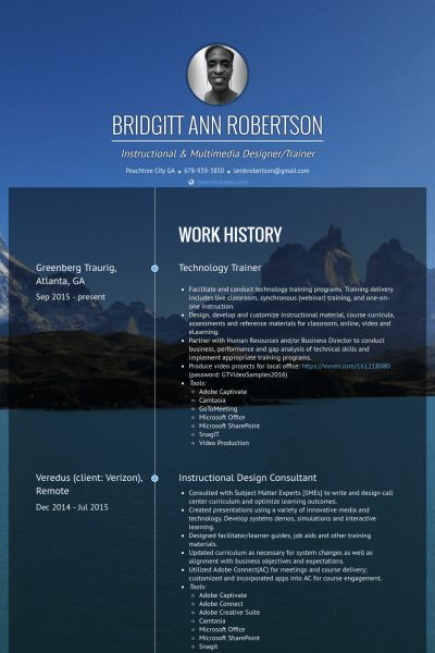 Design Consultant Resume samples - VisualCV resume samples database
