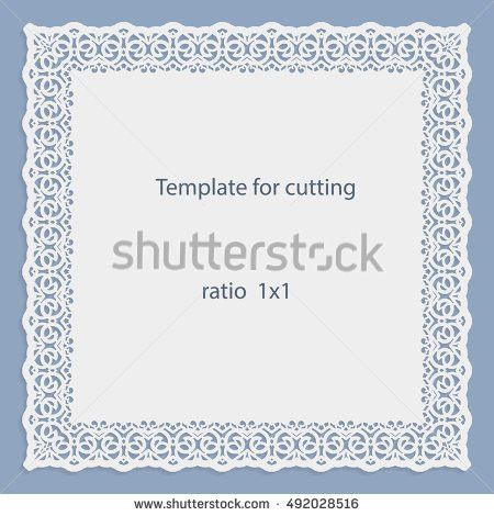 Greeting Card Openwork Oval Border Paper Stock Vector 535110703 ...