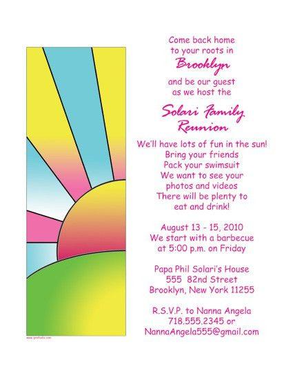 Free Family Reunion Invitations