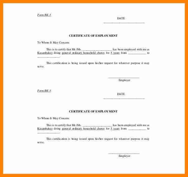 6+ certificate of employment format   buyer resume