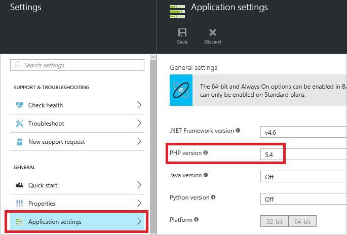 Configure PHP in Azure App Service Web Apps | Microsoft Docs