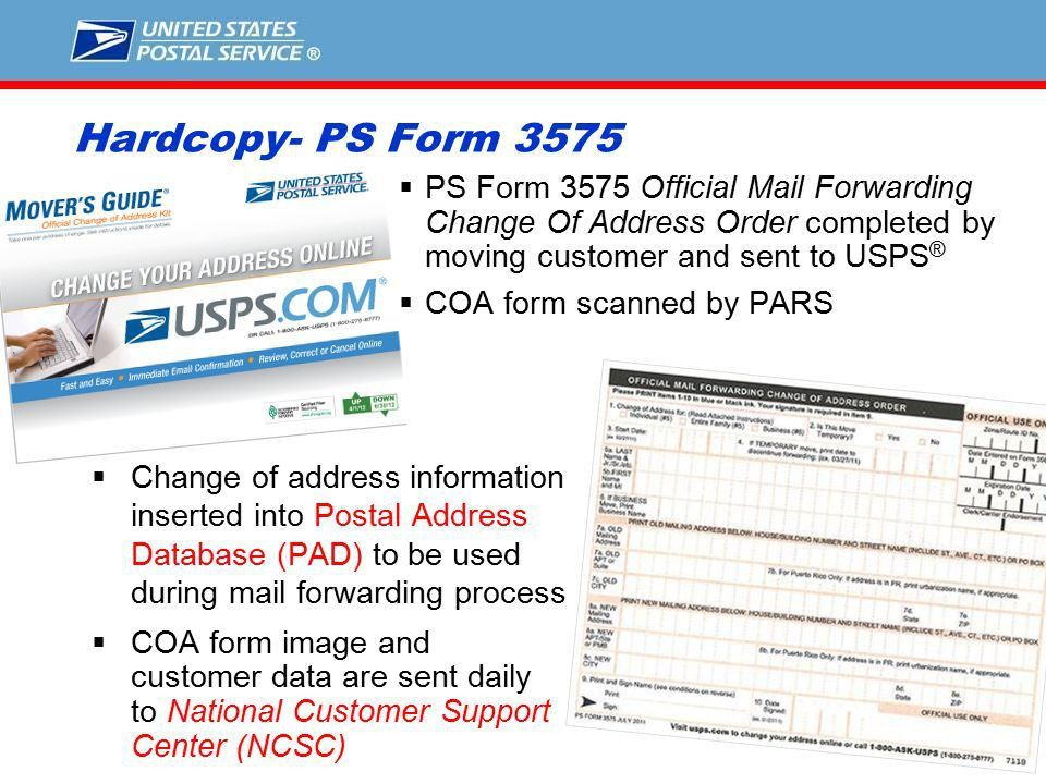 1 Understanding How The Change-of-Address Process Works National ...