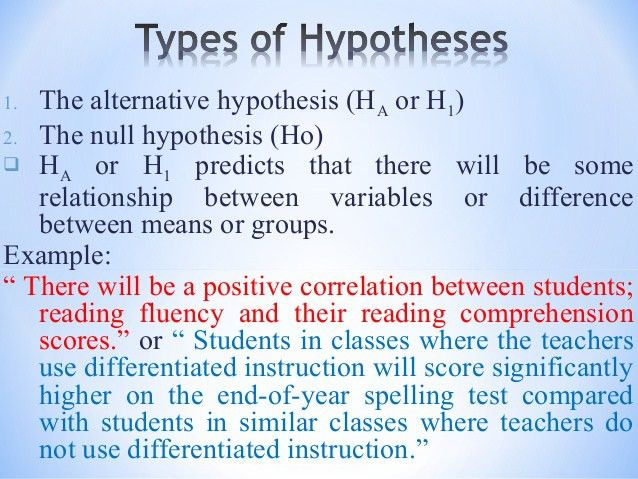 Day 9 hypothesis and correlation for students