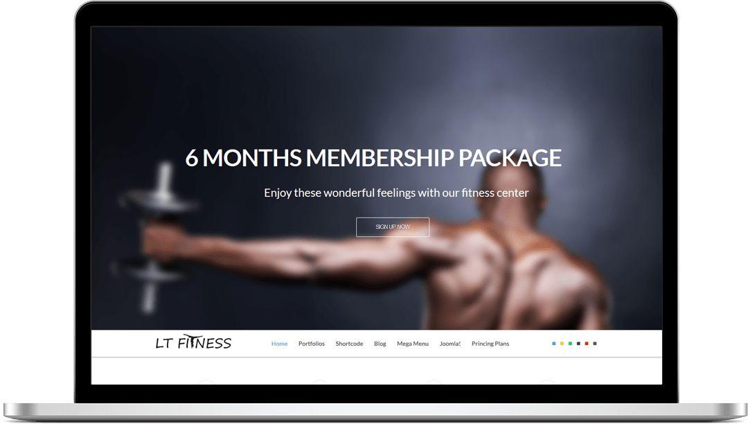 JomBoom.COM | Free joomla templates -Lt fitness – free one page ...