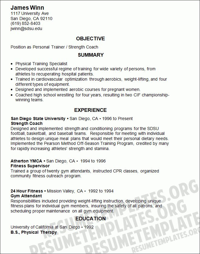 personal trainer resume examples unforgettable personal trainer