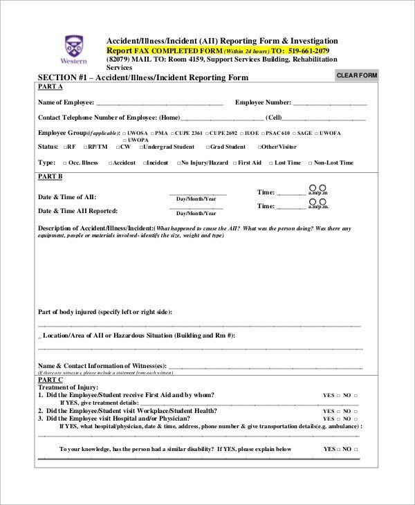 Incident Report Template Word [Nfgaccountability.com ]