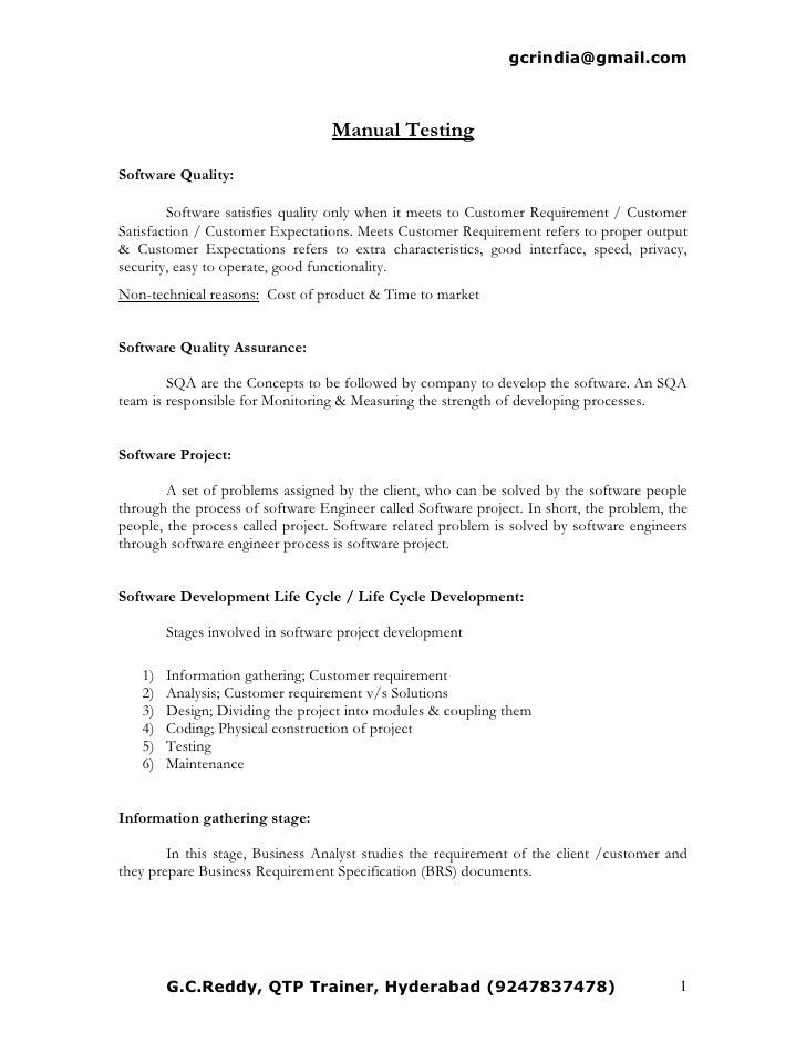 Manual Testing Resume Format Samples | Resume Format