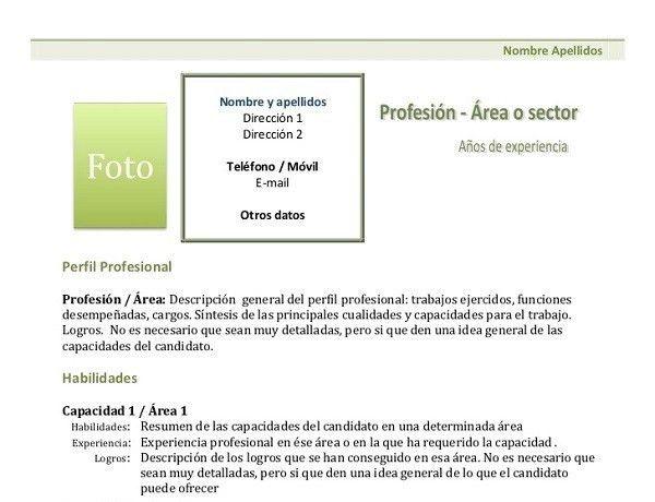 100 Modelos y Plantillas de Currículum Vitae para Descargar Gratis ...