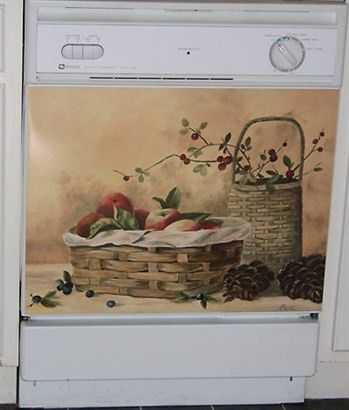 Apples & Berries Custom Dishwasher Cover. Fun Kitchen Appliance ...