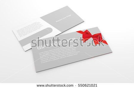 Mock Template Gift Voucher Card Red Stock Illustration 550621012 ...