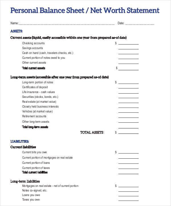 9+ Balance Sheet Examples Download in Word, PDF | Free & Premium ...