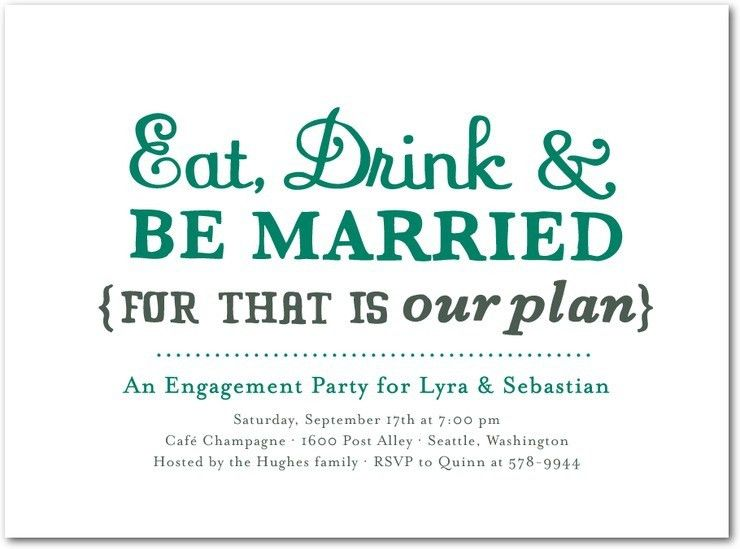 Engagement Party Invite | christmanista.com