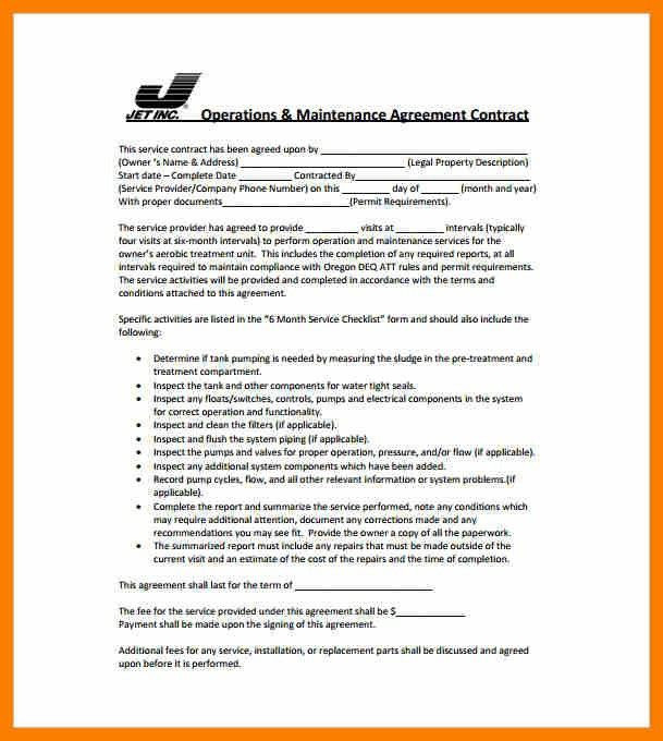 Maintenance Contract Template. Air Conditioner Annual Maintenance ...