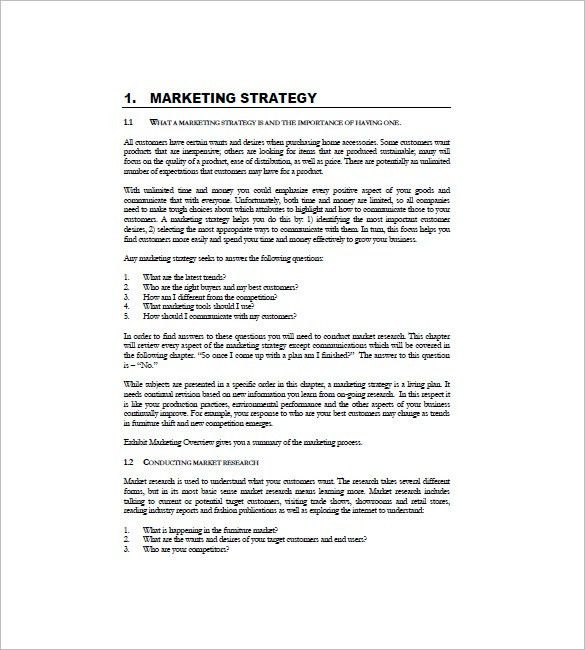 International Marketing Plan Template – 8+ Free Sample, Example ...