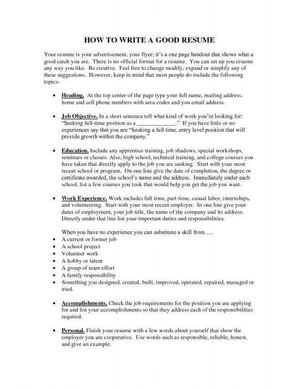 Download How To Set Up Resume   haadyaooverbayresort.com