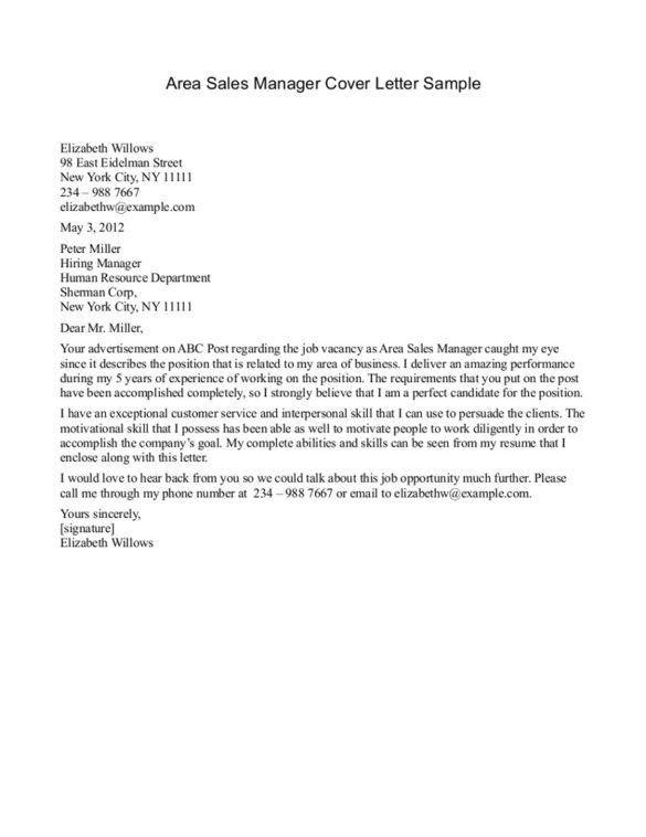 Job Wining Cover Letter Sample For Sales Job Position : Vntask.com
