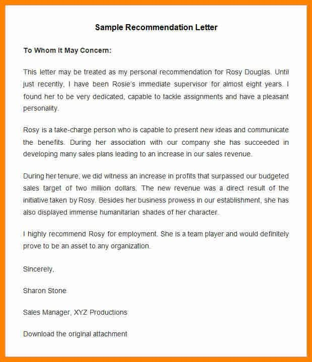12+ sample employee recommendation letter | job resumed