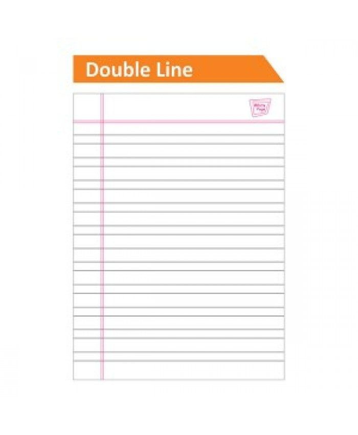 Classmate Double Line Notebook - 190mm x 155mm,Hard Cover, 172 Pages