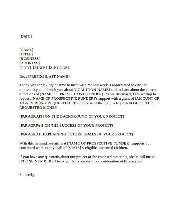 Grant Cover Letter. Sample Grant Proposal Cover Letter For Small ...
