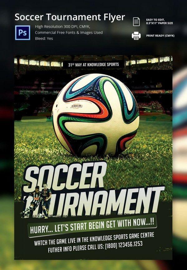 Sports Flyer Template. Soccer Tournament Flyer Template 67+ ...