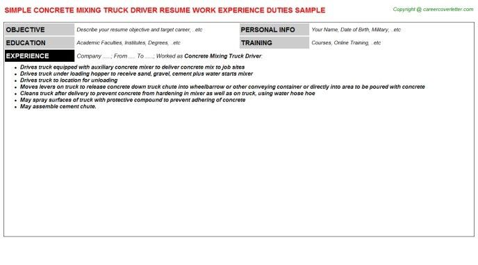 cdl driver resume unforgettable truck driver resume examples to