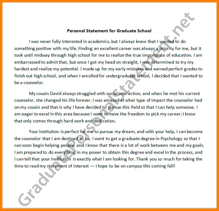 6+ personal statement masters template | Statement Information