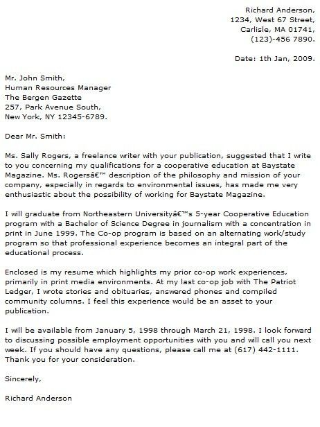 Journalism Cover Letters] Journalism Cover Letter Examples Cover ...