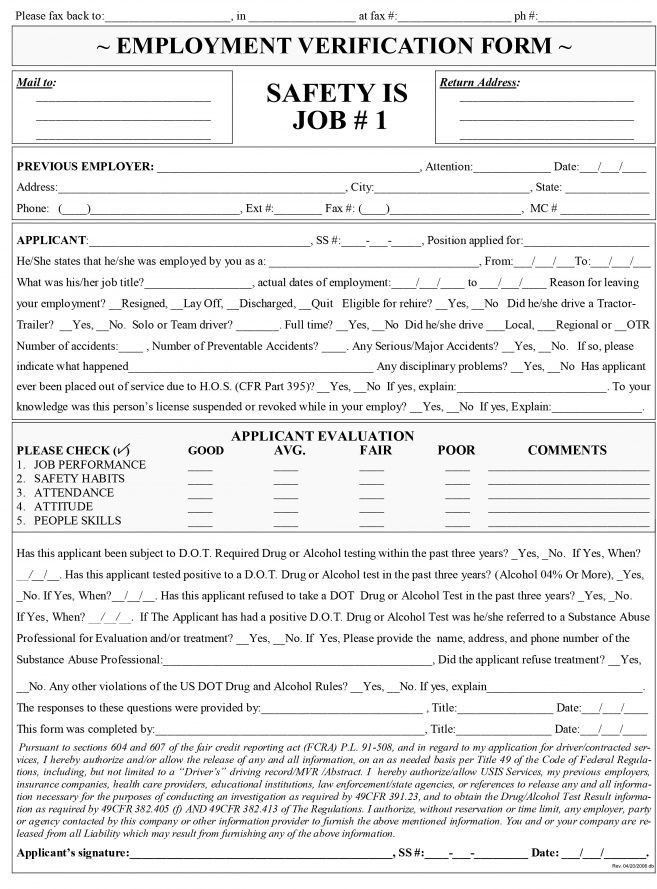 7 Truck Driver Employment Application Form Template Job Duties ...