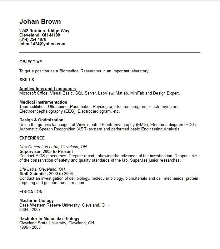Biomedical Design Engineer Sample Resume] Download ...